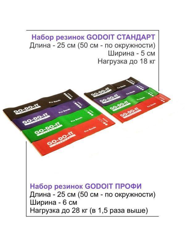 GO-DO-IT / Ленточный эспандер ПРОФИ (широкая фитнес резинка) видео тренировка, 6 см, 28 кг